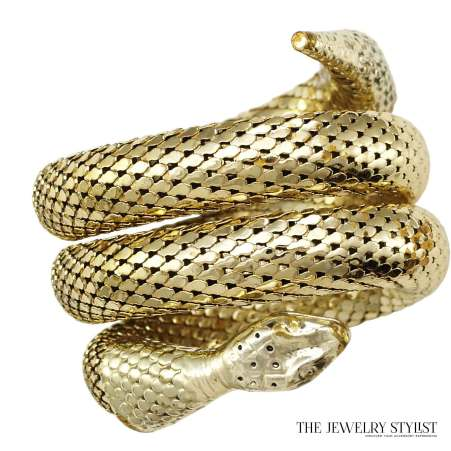 Whiting & Davis Double Coil Snake Serpent Bracelet