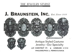 A vintage advertisement by J. Braunstein, Inc. brought to you by The Jewelry Stylist
