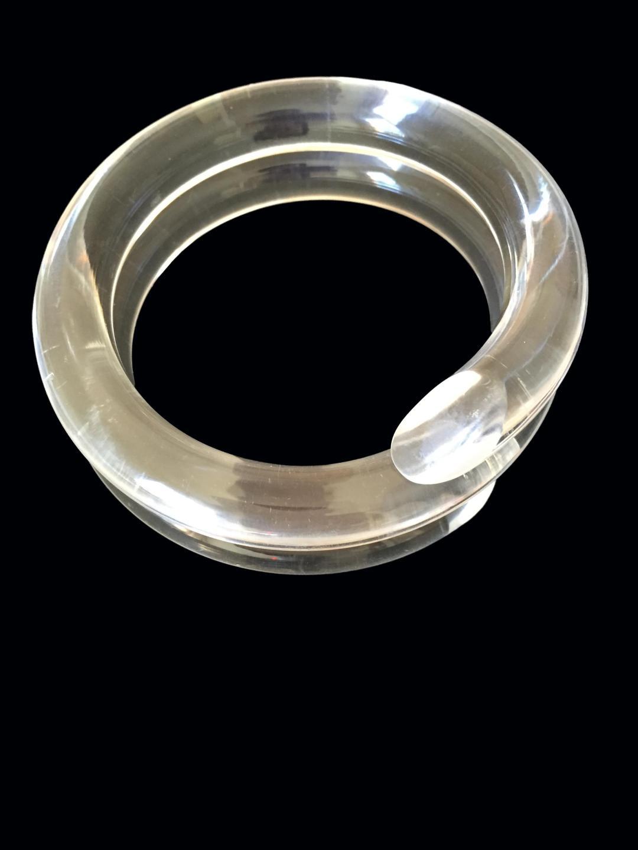 Authentic Vintage Judith Hendler Bypass Spiral Bracelet (Acri-Gems)