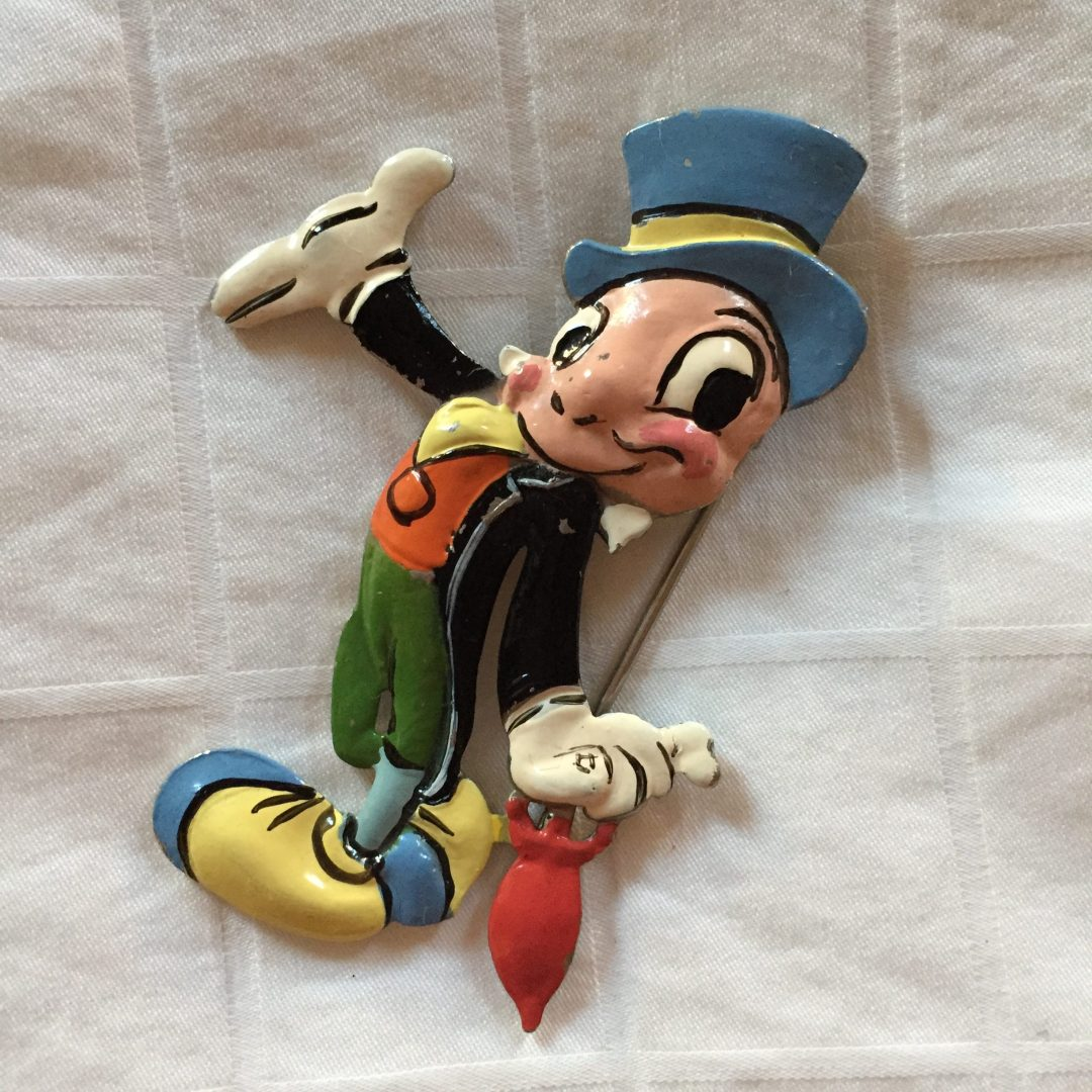 Extremely Rare Enamel Pinocchio Fur Clip Alternate View