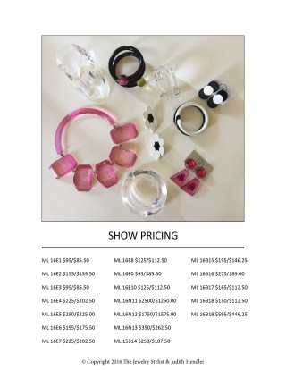 Judith Hendler Jewelry CJCI 2016 Show Special Price List