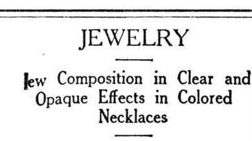 1920 Coro Jewelry History