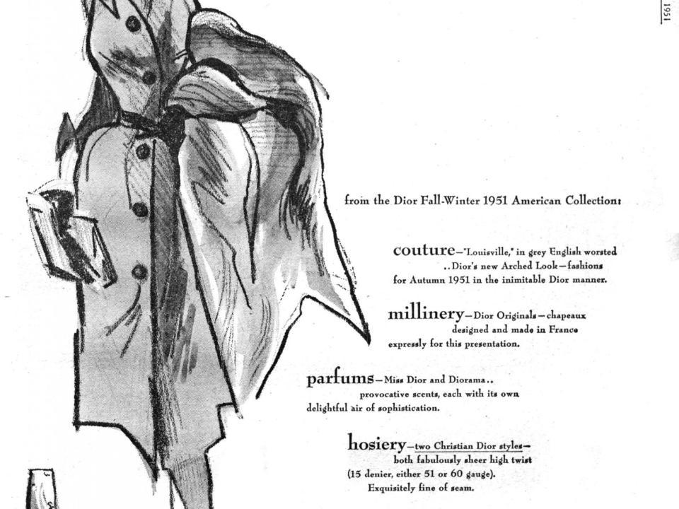 WWD June 1951 Christian Dior