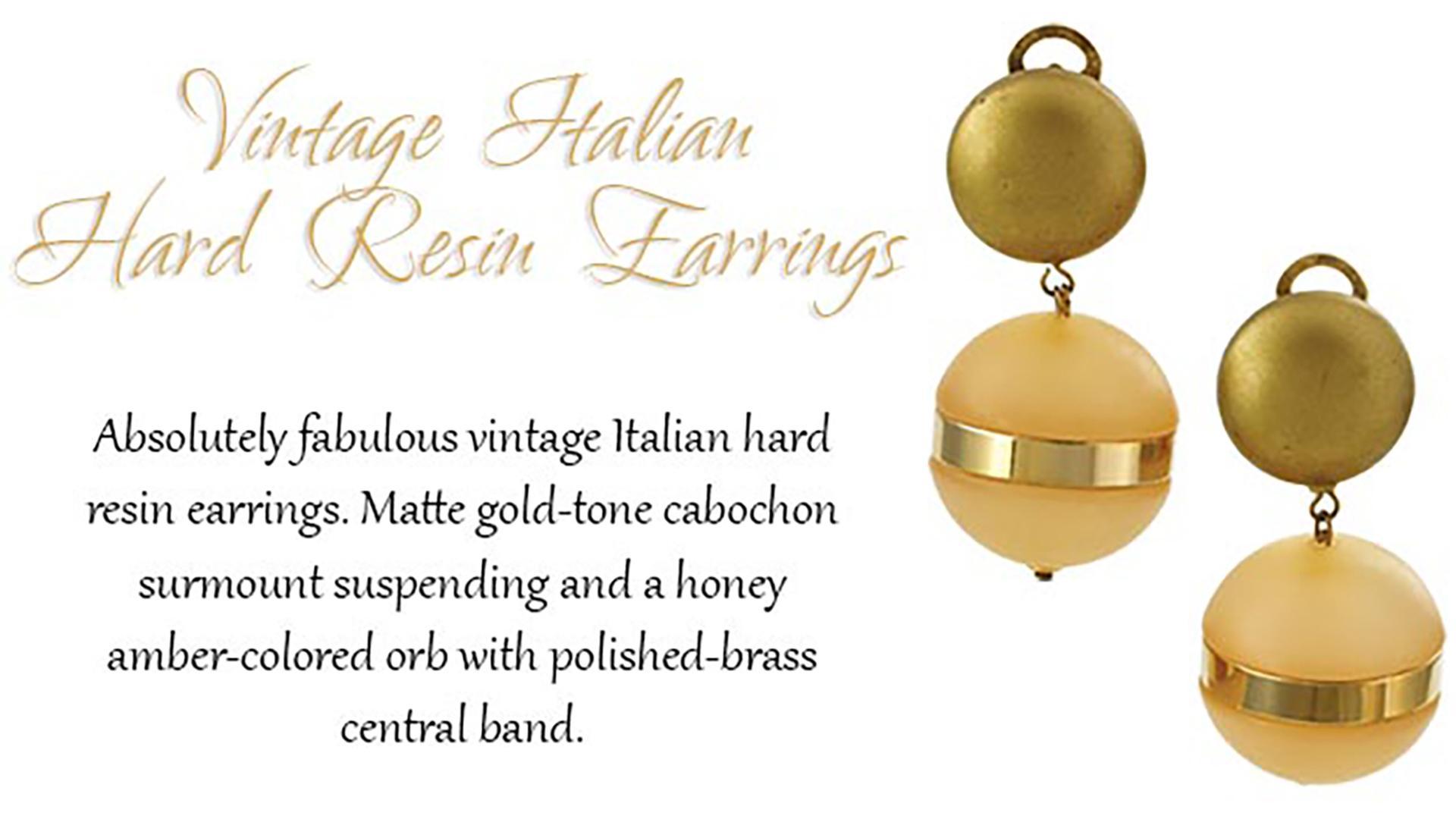 Vintage-Italian-Hard-Resin-Earring
