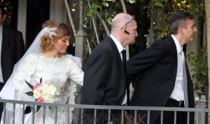 Meir Kin, right, married Daniela Barbosa on Thursday night, though he has refused Lonna Kin an Orthodox Jewish divorce. Photo Credit:Isaac Brekken for The New York Times