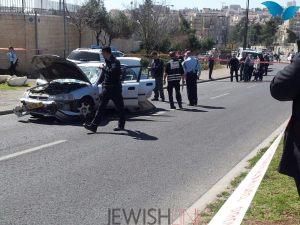 .Description: scene of terror Friday morning March 6, in Jerusalem Credit: David Diamant