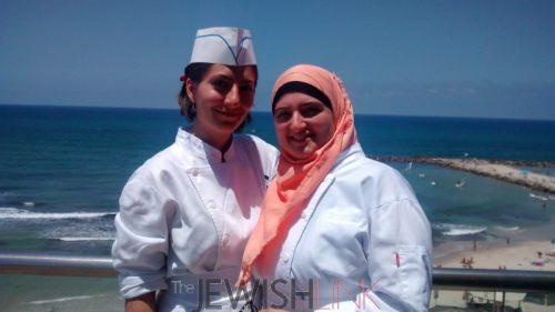 Alina Khalaman,who made aliyah from Kazakhstan and Roaa Msarwa from Tayibe.
