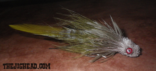 Striper striped bass fly deer hair head marabou deer hair spinning