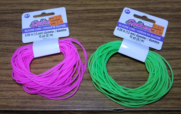 sili cord rubber legs fly tying trout worm fly