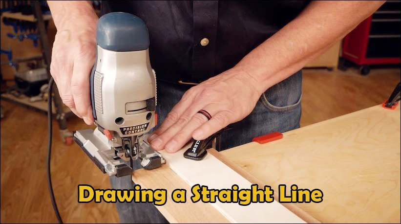 How to cut a straight line with a jigsaw
