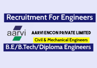 Aarvi Encon Limited Hiring Civil & Mechanical Engineers