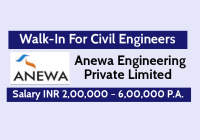 Anewa Engineering Pvt Ltd Walk-In Drive For Civil Engineers