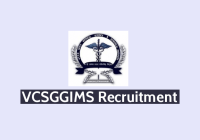 VCSGGIMS Recruitment