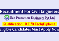Eco Protection Engineers Pvt Ltd Recruitment For Civil Engineers