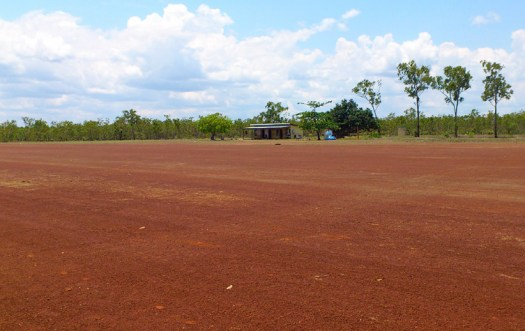 Wandawuy - This is the house that likes to run an electrical extension cord across the airstrip!