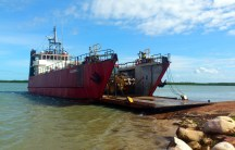 The MV Caledon Bay... our link to the outside world during The Wet
