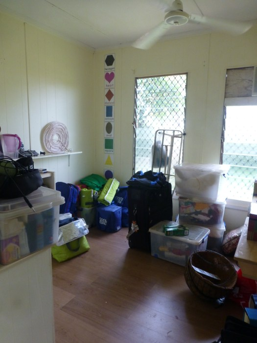 The spare room, junk room, where do i put this room... will have a bed soon if you want to visit.