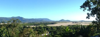 The view from our verandah at Tree Tops Lodge, Cairns.
