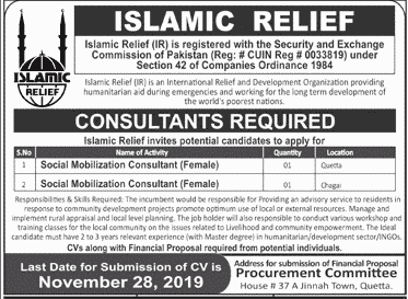 Islamic Relief IR Jobs