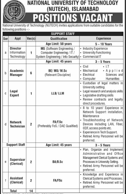 National University of Technology Jobs