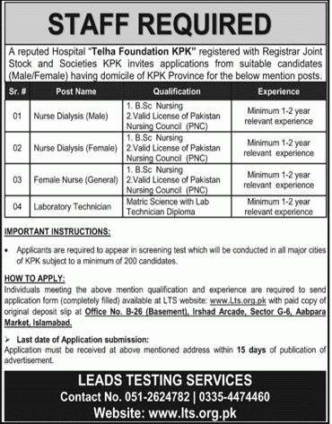 Telha Foundation KPK Jobs 2020