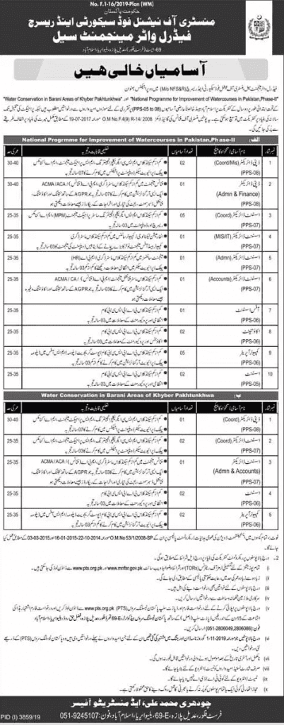 Ministry of National Food Security Jobs 2020