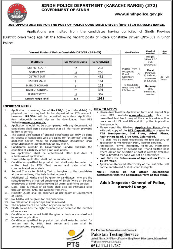 Police Department Constable Jobs 2020