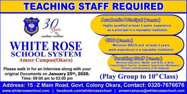 White Rose School System Jobs 2020