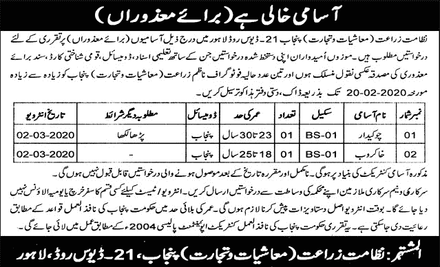 Agriculture Department Jobs 2020