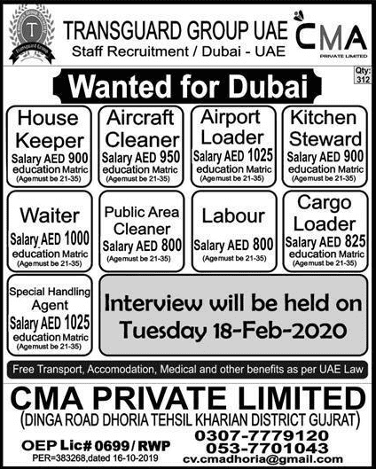 CMA Private Limited Jobs 2020