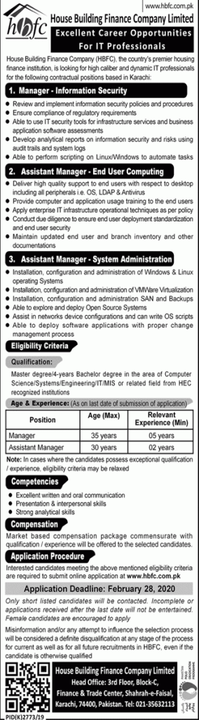 Finance Company Limited Jobs 2020