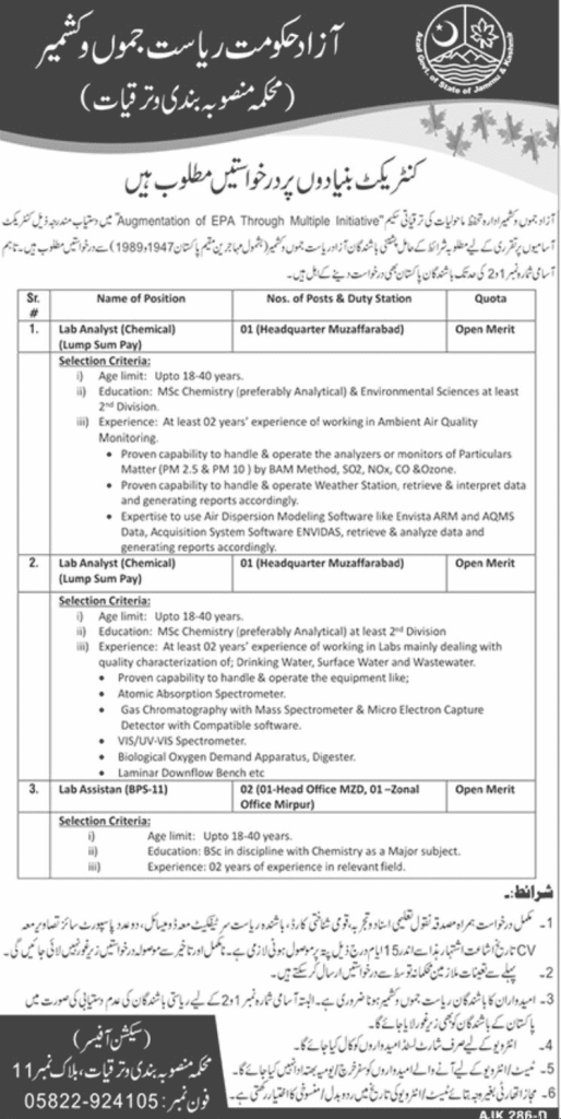 Government of AJK Jobs 2020