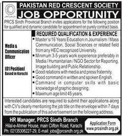 Red Crescent Society Jobs 2020