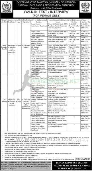 Nadra Pakistan Jobs 2021