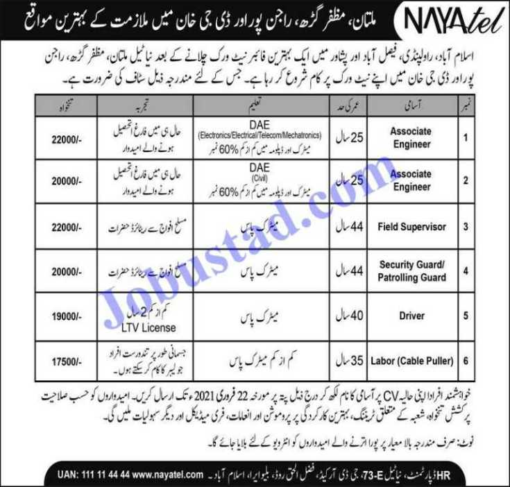 Nayatel Private Limited Jobs 2021
