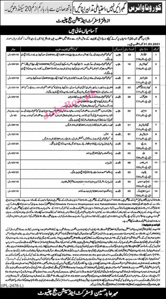 Session Courts Chiniot Jobs 2021
