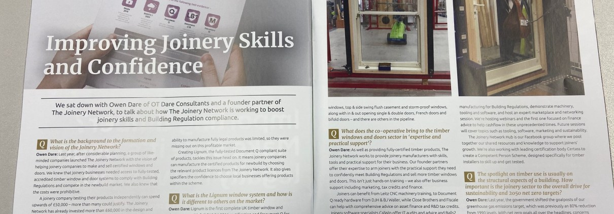 Improving Joinery Skills and Confidence – As seen in Timber Construction