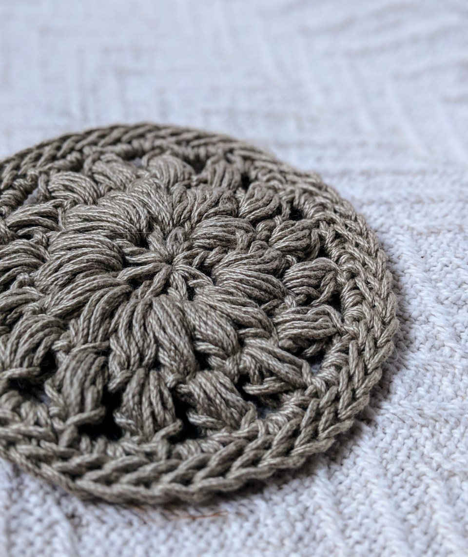 Puff Stitch Coasters Crochet Coaster Pattern