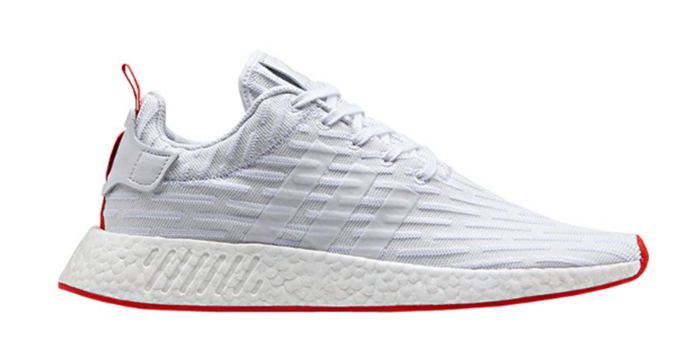 Adidas NMD R2 White Core Red