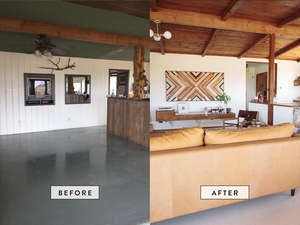 The Joshua Tree Hacienda Before & After
