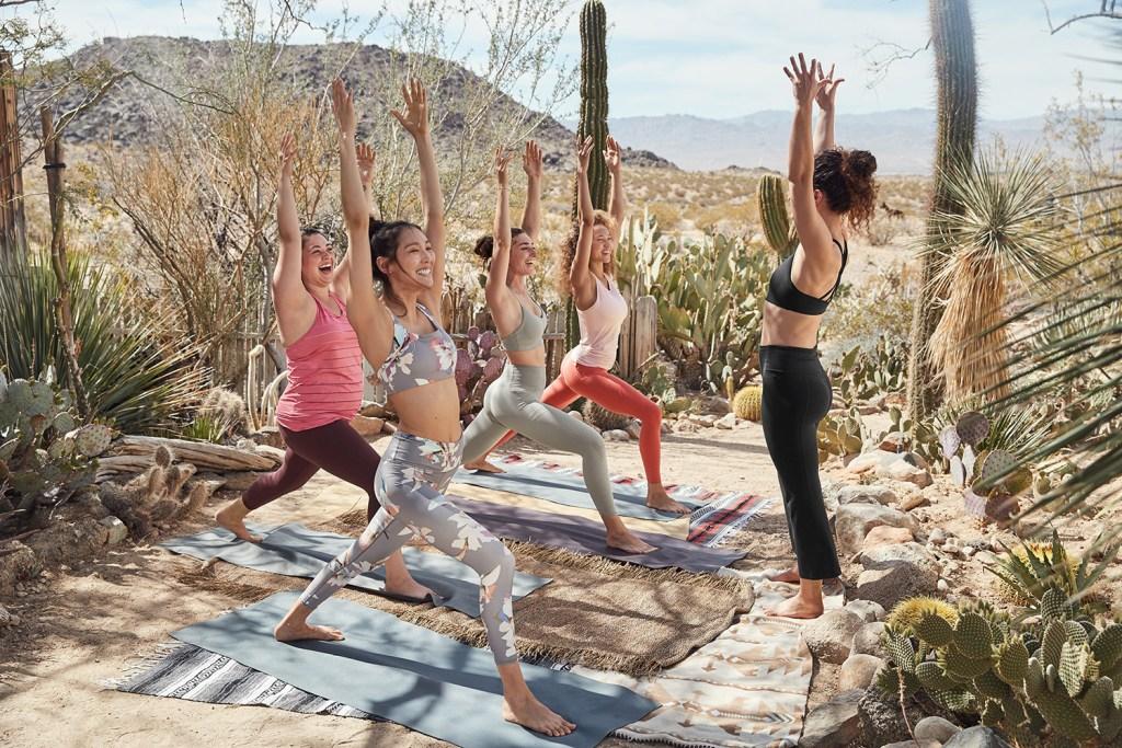 a74ff202817c Athleta yoga and Sara Combs at the Hacienda by the Joshua Tree House