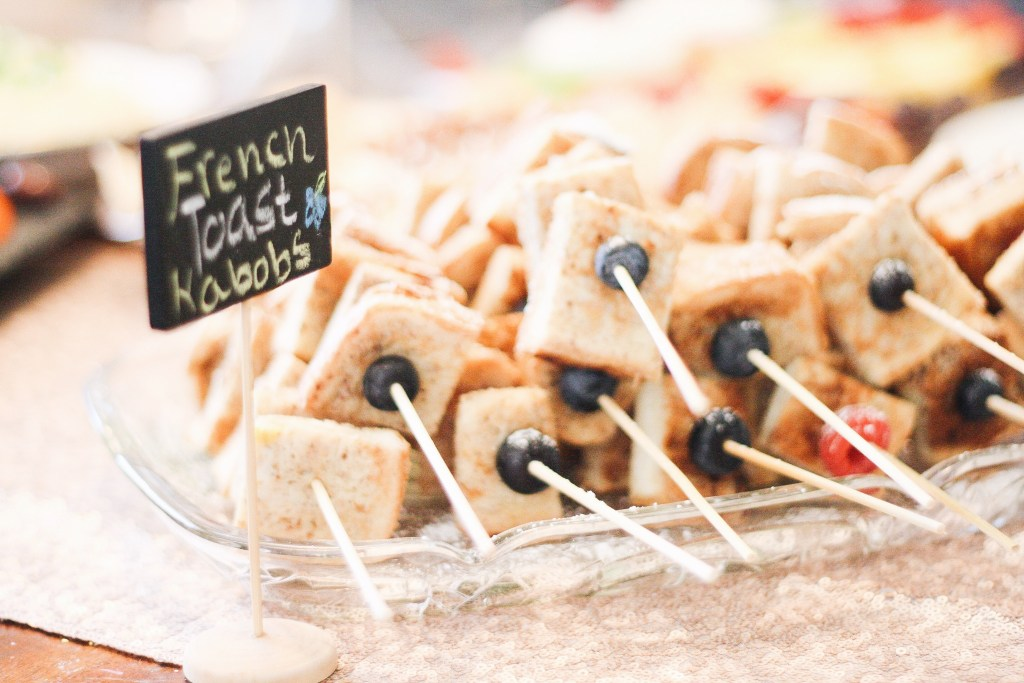 baby shower french toast kabobs