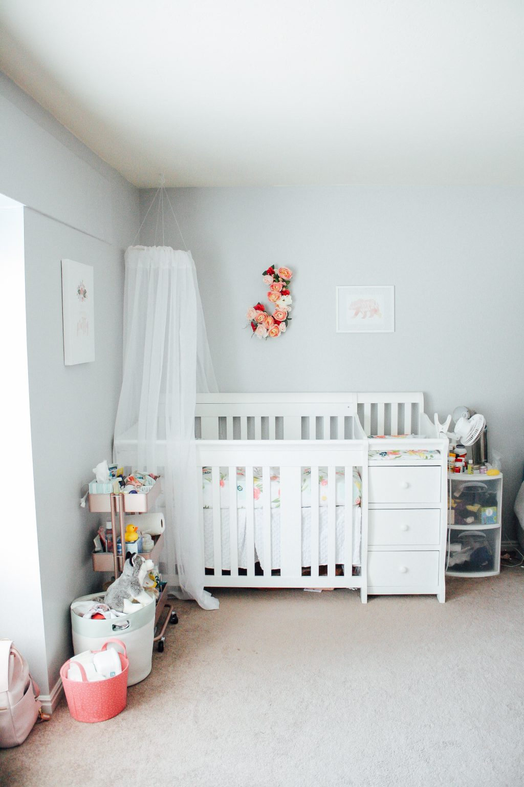 Nursery corner DIY baby girl