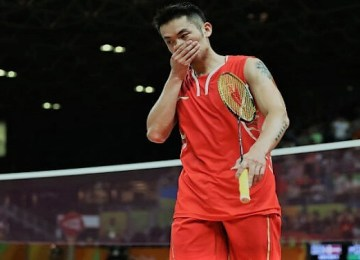 Lin Dan in Singapore Open 2019