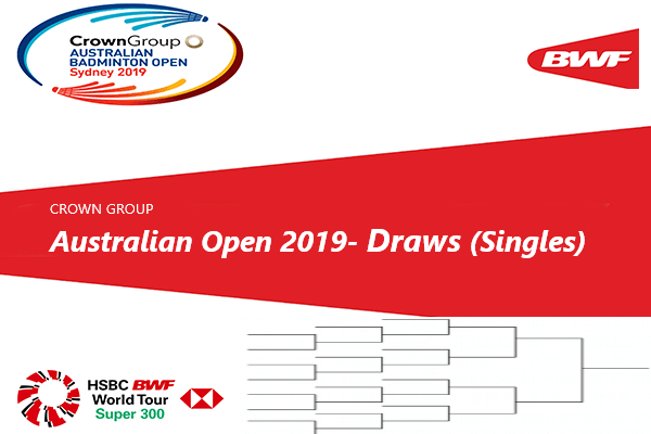 Australian Open 2019 Draws Singles | HSBC BWF World Tour -