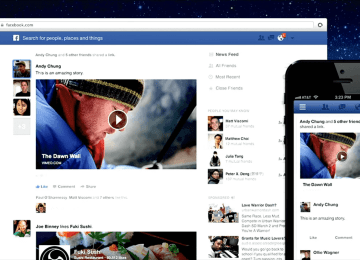 Facebook social networking app