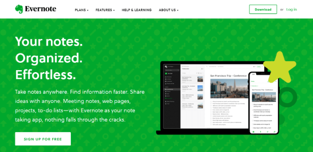 Evernote Notes Taking Tool