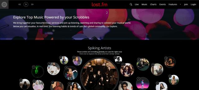 Last.fm Spotify alterntive