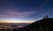 27: The twin long-range antenna/radars of Baguio's tourists' popular icon, is seen during the early stage of sunrise at Sto. Tomas in Mt. Cabuyao, Benguet having a height of 7,000 feet above sea level as the city lights of Baguio shines below.