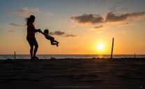 MOTHER'S LOVE IS NEVER DONE Somewhere out there at the beach side of Barangay Mindoro in Vigan City, a mother plays with her child at sundown. It is a portrait of love itself.